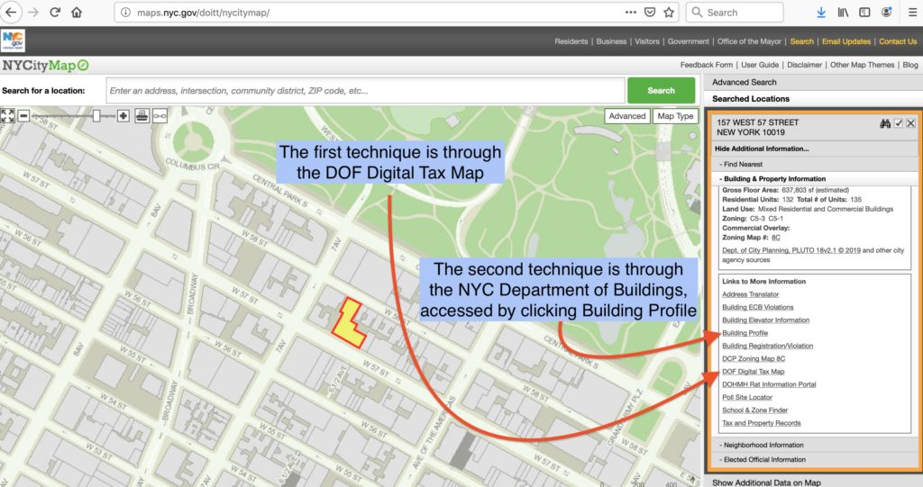How to find the pre-Condo Lot number for a Condo building Dof Tax Map on